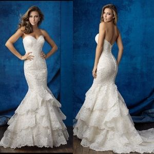Allure Bridal Mermaid Lace Dress - Must go!